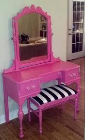 Pink Vanity Table Milan Makeup Vanity Table 47 2 Length Modern Makeup Mirrors