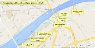 Tyne Metro Map by Newcastle Bridges Over Tyne And Town