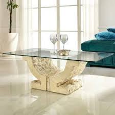 stone and glass coffee table stone coffee tables and side tables viadurini