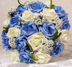 wedding flowers newcastle wedding bouquets blue silk flower bridal bouquet artificial