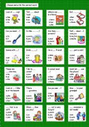 esl kids worksheets pronouns and adjectives