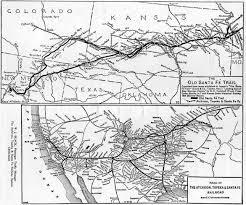 Santa Fe Map File Santa Fe Trail And Railroad Map 1922 Jpg Wikimedia Commons