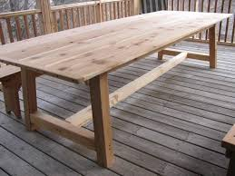 how to make an outdoor table handmade large outdoor dining table cedar by jeffbuildsfurniture