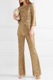 metallic gold blouse michael kors collection metallic guipure lace flared