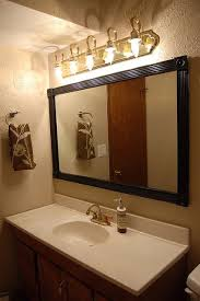 cheap bathroom mirror cheap interesting way to frame our a standard construction bathroom