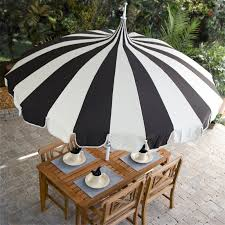 5 Foot Umbrella Patio Exterior Striped White And Black 5 Ft Patio Umbrella With