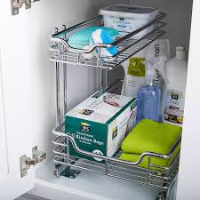 kitchen sink cabinet caddy cleaning and organizing your kitchen bathroom cabinets