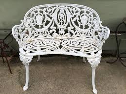 cast iron garden bench seat home outdoor decoration