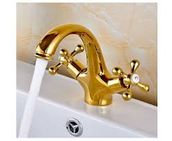 details about gold polished two knobs basin bathroom sink faucet