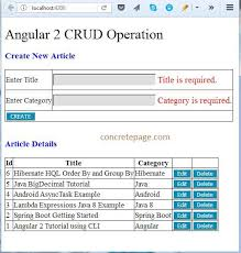 tutorial java spring hibernate boot rest angular 2 4 jpa hibernate mysql crud exle