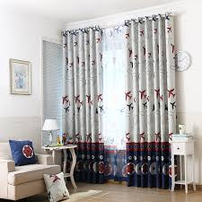 Boys Room Curtains Aliexpress Com Buy Cartoon Aircraft Blackout Window Curtains For
