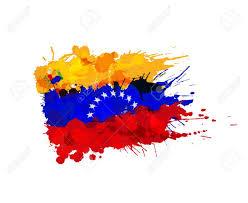 Venezuela Flag Colors Flag Of Venezuela Made Of Colorful Splashes Royalty Free Cliparts