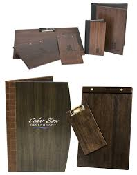 Restaurant Menu Covers Wood Boards And Menu Covers Bielen And Associates