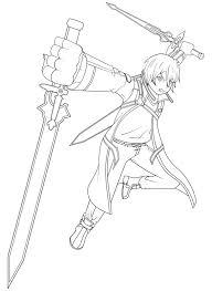 sword art online kirito coloring pages images color me