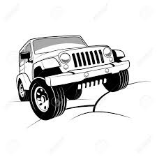 jeep drawing off road jeep clipart clipartxtras