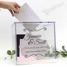 wishing box wedding wedding personalised acrylic wishing well