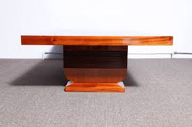 a very large art deco sofa coffee table modernism