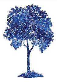 chestnut blue tree with snowflakes vector thinkstock