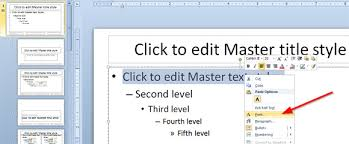 how to change default font in powerpoint template