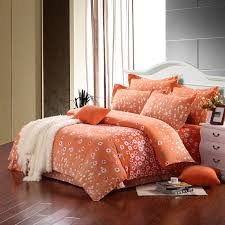Orange Bed Sets Light Orange And White Abstract Modern Country Flower Print