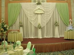 Green Color Curtains 3m 6m Wedding Backdrop White And Green Color Banquet Curtains