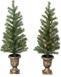 2 pack time pre lit 3 5 artificial porch trees 20 00
