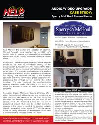 case study sperry u0026 mchoul funeral home audio video upgrade