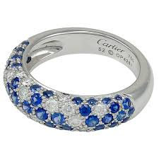 cartier diamond rings images Cartier diamond sapphire gold band ring for sale at 1stdibs jpeg