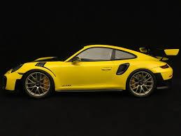 Porsche Macan Yellow - porsche 911 gt2 rs type 991 weissach package yellow black 1 18