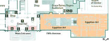 met museum floor plan map portion of the metropolitan museum of art