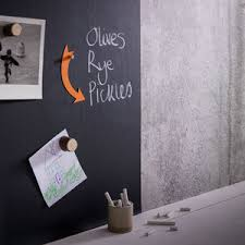 magnetic blackboard wallpaper by sisters guild