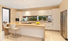 kitchen window design ideas freshwater contemporary open plan kitchen with splashback window