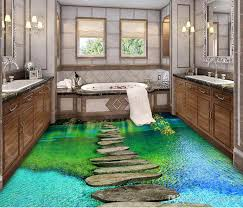 wonderful decoration 3d vinyl flooring stereoscopic floor murals