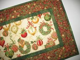 table runner ornaments quilted fabric from