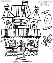 spooky house clipart coloring haunted house anfuk co