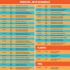 2016 ipl match list pepsi ipl 2015 match schedule