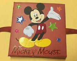 mickey mouse photo album vacation photo album etsy