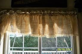 burlap window valance no sew but lots of paint hometalk
