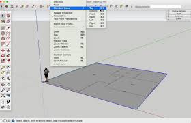 how to draw a basic 2d floor plan from an image file in sketchup sketchup change view top