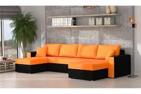 canapé d angle orange canapé d angle convertible en microfibre lany design
