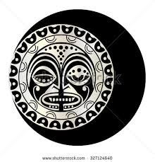 beautiful polynesian style tattoo stock vector 593340695