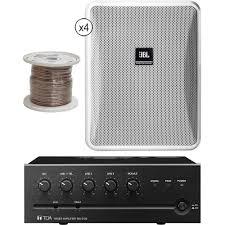 Noise Cancelling Backyard Speakers Jbl Control 25 1 Compact Indoor Outdoor Speakers Wire U0026 B U0026h