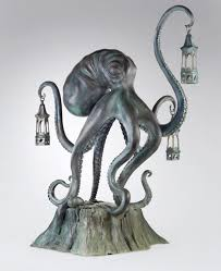 pewter octopus candle holder octopus candle holder for sale