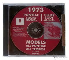 1973 pontiac shop manual cd catalina bonneville grand prix gto