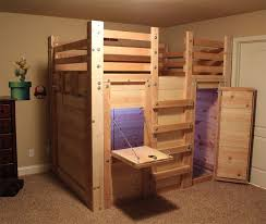Twin Loft Bed Plans by Cabin Bed Plans Palmetto Bunk Beds