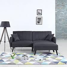 Mid Century Modern Sofa Bed Mid Century Modern Linen Fabric Futon Sofa Bed Living