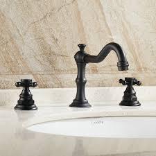 Bathroom Sink Beelee Deck Mounted Three Holes Double Handles Widespread Bathroom