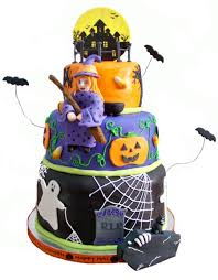 Halloween Bundt Cake Decorations by Three Tier Halloween Cake Cakecentral Com