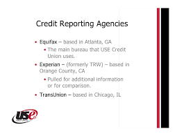trw credit bureau use credit union credit report seminar