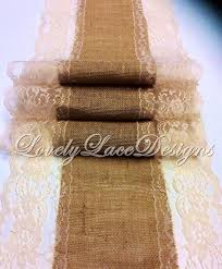 natural burlap table runner burlap table runner 5ft 10ft x 13in wide natural lace wedding decor